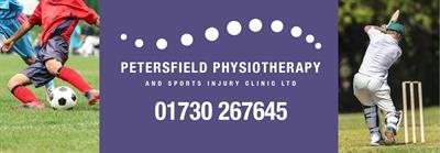 Thank you to Petersfield Physiotherapy and Sports Injuries Clinic