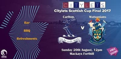 Citylets Scottish Cup Final - Sunday 20th August at Mackays Forthill - 12pm Start