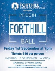 Pride in Forthill Ball - Ticket Deadline Approaching!