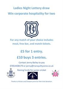 Ladies Night - Ticket Update & Win Hospitality at Dundee FC
