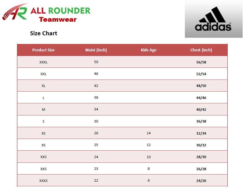 Adidas Shoe Size Chart Adidas Size Chart