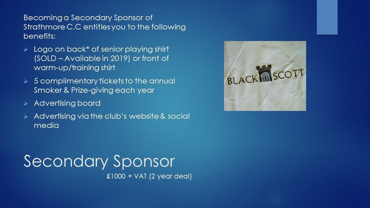 Secondary Sponsor