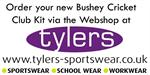 Purchase the new Kit via the Bushey Cricket Club Webshop at Tylers Sportwear