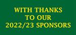 Sponsor thanks